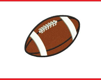 Football Embroidery Design - 2,3,4 inch size for instant download Football Embroidery