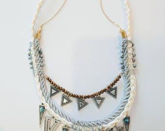 White Triangles Goddess - Mulatta Necklace