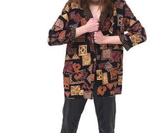 New York Multi Print Tribal Jacket