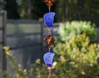 Wind Chime Sea Glass Copper Brass Outdoor Windchimes