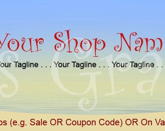 Shop Banner Set - 3 Tropic Summer Banner Designs