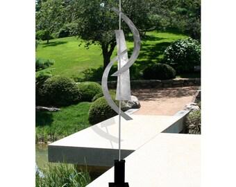 Large Modern Metal Sculpture, Contemporary Metal Art Garden Decor, Featured On Sleepy Hollow - Silver Maritime Massive by Jon Allen