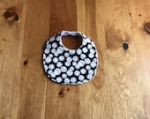 Baseball Baby Bib - Chenille Baby Bib - Baseball Bib in Navy - Baby Shower Gift - Sports Baby Bib - Infant Bib - Gender Neutral Baby Gift