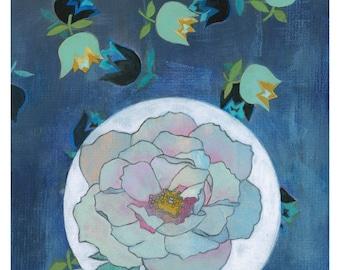Peony Flower Giclee Print