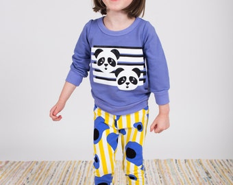 SALE Panda print bamboo fleece baby toddler kids sweatshirt 6-12 months through 6 years! Ready to ship