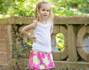 Toddler Girls skirt Pop Garden skirt 2 T - 9 Y Boutique Childrens Clothing