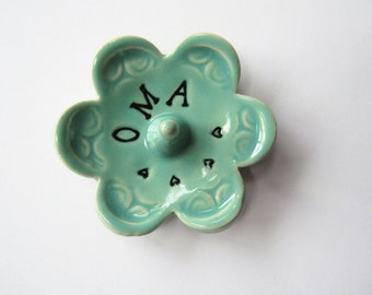 Oma ring dish - Gift for Oma - Keepsake Ring Dish -  Gift box included