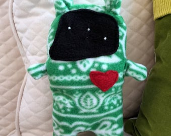 Fern ~ The Holiday Bunny Bummlie ~ Stuffing Free Dog Toy ~ Ready To Ship Today