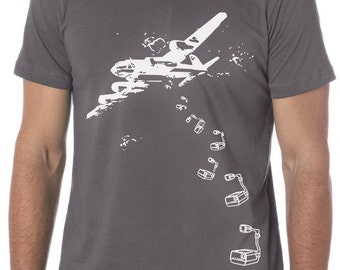 funny t-shirt, graphic tees, air plane, bomber plane, ironic, hipster, screen print, gift, boyfriend, husband, son, abstract, geek, nerd,