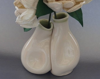 Anniversary Gift Vase Set, Unique Anniversary Gift for Couples, Handmade Pottery / Ceramics