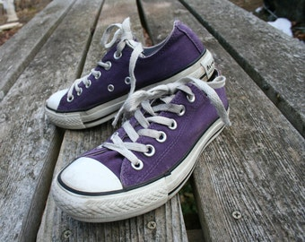 Converse Purple All Star size M 4.5 low top