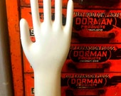 Industrial Porcelain Glove Mold - Industrial Art Object Shiny