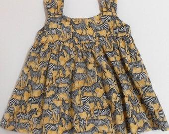 Size 12 Mos Baby Dress with Zebras
