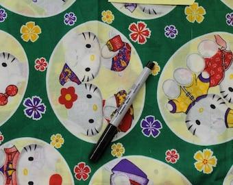 Hello Kitty Couples 100% cotton fabric Chintz?