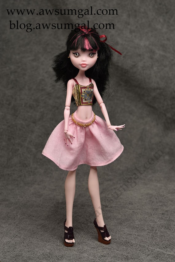 Penny - ooak Monster High Draculaura Repaint and Redress by awsumgal