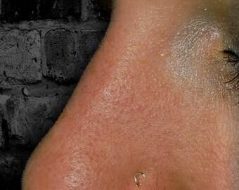 Itty Bitty Tear Drop Nose Stud.