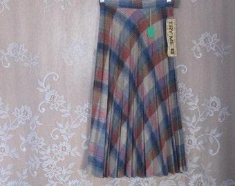 Vintage Wool Blend Pleated Skirt, Accordian Pleated Skirt, Pleated skirt,  size 5/6