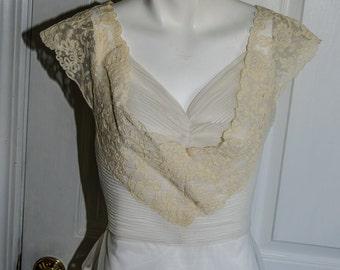 Vintage 1950's Soutache Lace Blouse Shirt