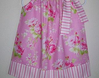 Girls Dresses Pillowcase Dress with Roses Sadie's Dance Card Pink Dress Floral Dress for a Wedding Tanya Whelan Girls Summer Dresses
