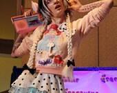 Cabbage Patch Kids sweatshirt peach 80s party pastel sweater fairy kei size small medium S M