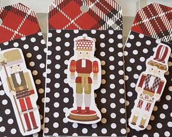 Nutcracker Christmas Gift Tag Set, Plaid Collection