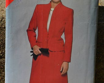 Vintage 80s Sewing Pattern Butterick See & Sew 5315 Women's Suit Jacket and Skirt