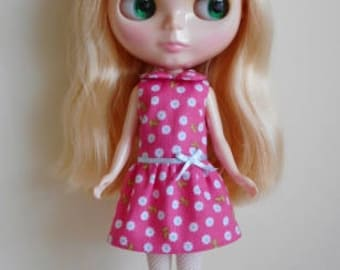 Pink drop waist dress for Blythe