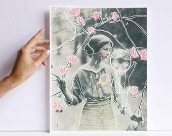 Essaie - print - cara carmina - Prince Mychkine - illustration - vintage photography - 10.6 x 13.8 inches - Fabriano paper