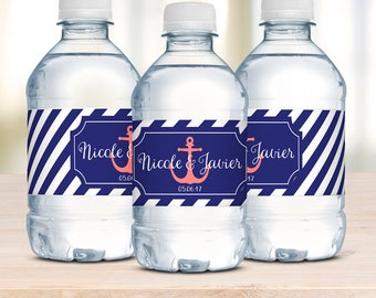 Water Bottle Labels, Wedding Welcome Bag, Waterproof Labels, Personalized Labels, Wedding Stickers, Destination Wedding, Wedding Favor Label