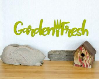 Garden Fresh Sign, Sign For Gardener, Fresh Food Sign, Gardening Shed Sign, Garden Wood Wall Art, Vegetables Sign