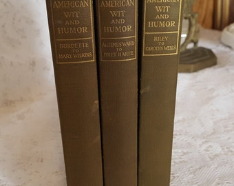 American Wit and Humor 3 Book Collection 1907