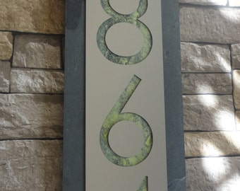 Modern HOUSE NUMBERS Customized Home Address Plaque