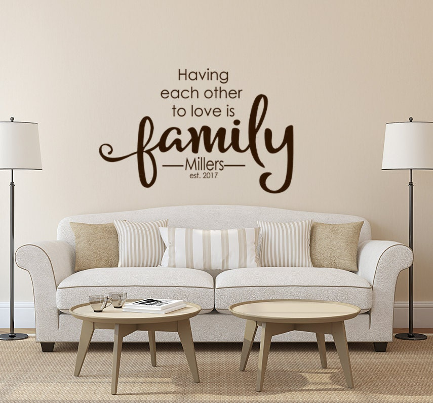 Family Wall Decal Monogram Living