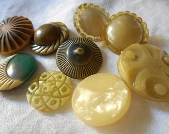 Lot of 9 VINTAGE Assorted Celluloid BUTTONS  2