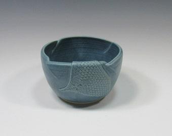 Ceramic Soup Bowl - soup bowl - bue bowl - pottery bowl - noodle or rice bowl - ice cream bowl - chili bowls - soup mug - dip bowl
