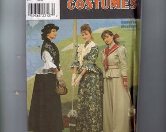 Misses Sewing Pattern Simplicity 8375 Misses Edwardian Titanic Mary Poppins Halloween Costume Theater Gibson Girl Size 6 8 10 UNCUT