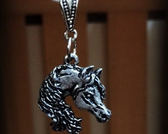Horse Head Pendant...3/4 inch with or without chain.