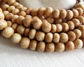 beige round   bone beads , with white carved cercle designs, size variations , natural Irregular boho 7mm to 10mm dia (30 beads) 6DB10-1
