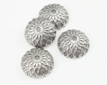 Silver Acorn Bead Caps Antique Silver Beadcaps for Fall Jewelry Making Jewelry Supplies Acorn Beadcaps for Silver Jewelry Autumn Beads
