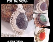 PDF TUTORIAL, Lace And Stone Bead Pendant, step by step instructions, digital download