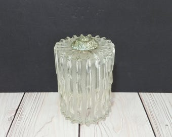 Vintage Clear Textured Glass Ceiling Light Cover