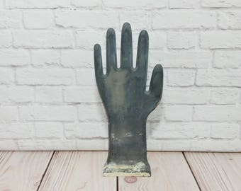 Vintage Black Plaster Hand Display