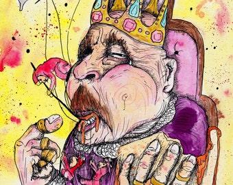 """Peanut Butter Sandwich - Shel Silverstein Art - Fan Art - King Decor  - """"A Lesson Never Learned"""" by Far Out Arts"""