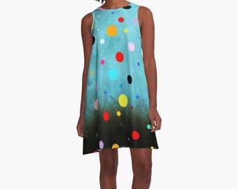 Dress - Polka Dots Abstract Vintage Art
