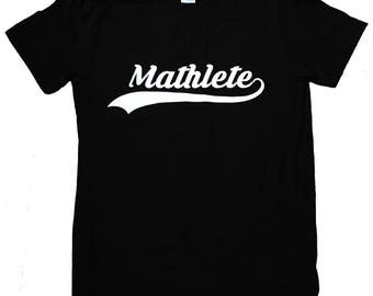 Mathlete Mens T-Shirt - Math Nerd Sizes S, M, L, XL