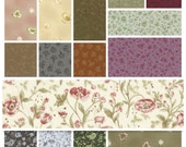 Lecien Mrs March 10x10 inches Origami layer cake squares - Antique Spring Floral - Japanese cotton set, 42 pieces - LAST one!
