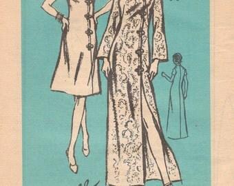1970s Prominent Designer A670 BRANELL Misses Oriental Cheongsam Dress Pattern Asymmetric Womens Vintage Sewing Pattern Size 10 Bust 32 UNCUT