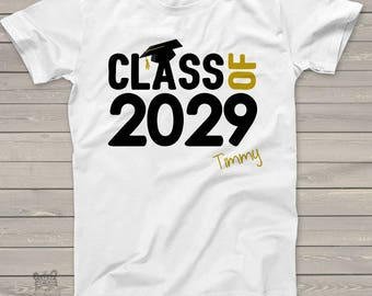 Graduation shirt -  class of 2029 or any year graduation cap school Tshirt   MSCL-003