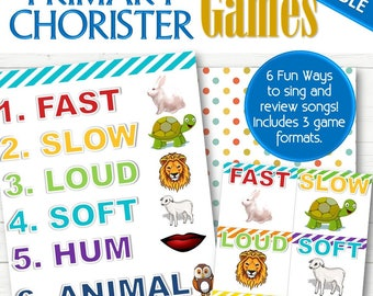 EDITABLE Primary Chorister Singing Time (for Fun Songs) - INSTANT DOWNLOAD