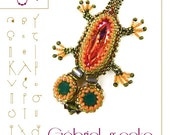 Gabriel the gecko pendant with Swarovski – PDF instruction for personal use only – Gábriel the gekko
